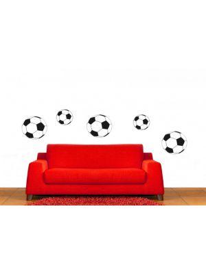 Muursticker voetbal set