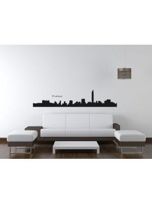 Muursticker skyline Mumbai