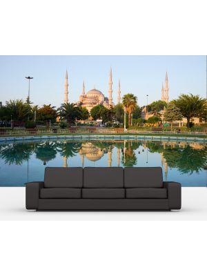 Foto behang Sultan-Ahmet-Moskee in Istanbul Turkije voorbeeld