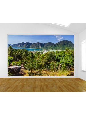 Foto behang Blik op Phi Phi Island Thailand voorbeeld