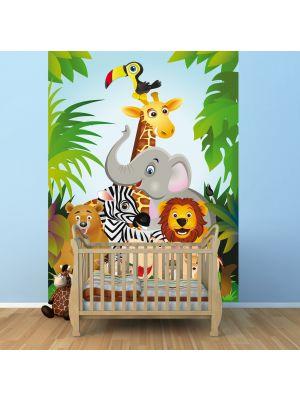 Foto behang Jungle dieren Cartoon II