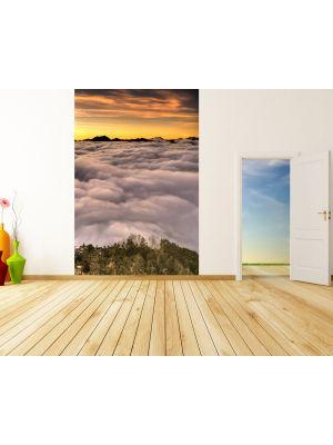 Foto behang Dramatische zonsondergang