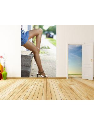 Foto behang Sexy vrouwen benen voorbeeld