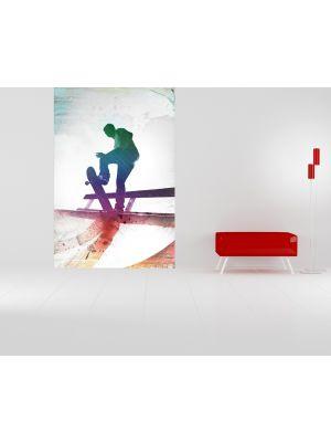 Foto behang Grungy Skateboarder voorbeeld