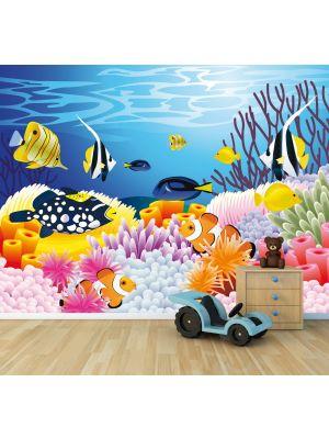 Foto behang Leven in de zee - Cartoon Kinder behang voorbeeld