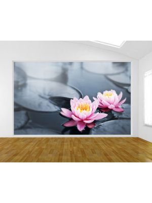 Foto behang Lotus bloem voorbeeld