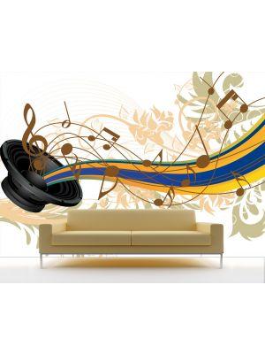 Foto behang Musical Grunge Background voorbeeld