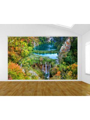 Foto behang Plitvice Lakes Nationaal Park - Kroatie voorbeeld
