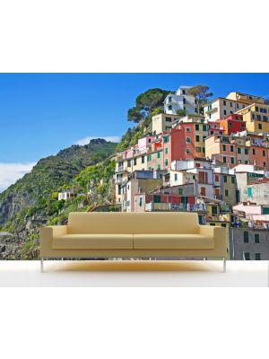 Foto behang Riomaggiore Cinque Terre - Italie voorbeeld