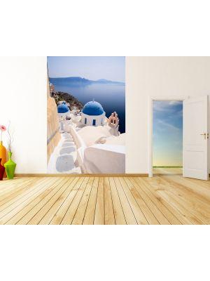 Foto behang Santorini View - Griekenland voorbeeld