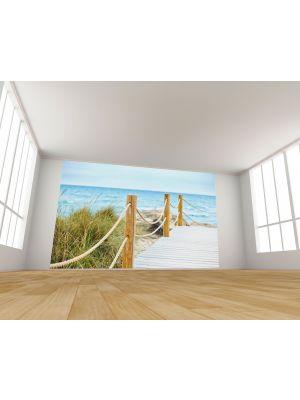 Foto behang Beautiful path to beach into ocean voorbeeld