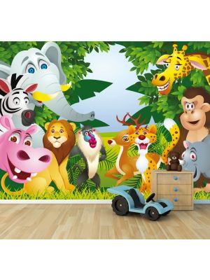 Foto behang Kinder behang Cartoon voorbeeld