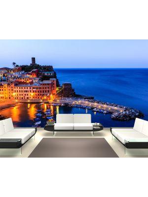 Foto behang Vernazza kasteel in Cinque Terre - Italie voorbeeld