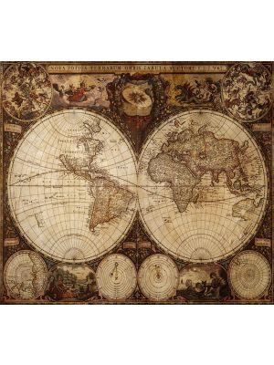 Foto behang Wereldkaart Vintage
