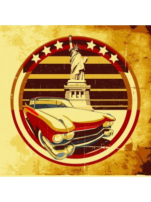 Foto behang Amerikaanse Stijl kleur