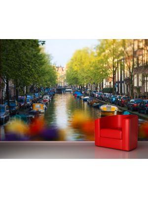 Foto behang Amsterdam - Nederland voorbeeld