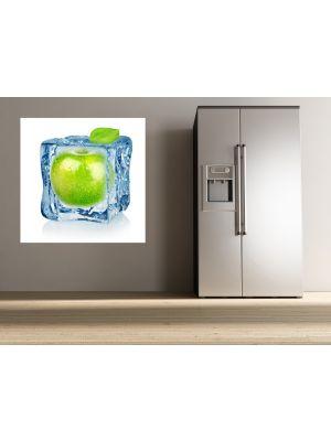 Foto behang Ijsblokje met appel voorbeeld