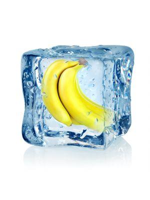 Foto behang Ijsblokje met banaan
