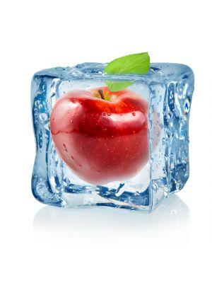 Foto behang Ijsblokje met rode appel
