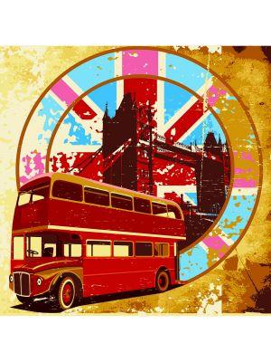 Foto behang London retro