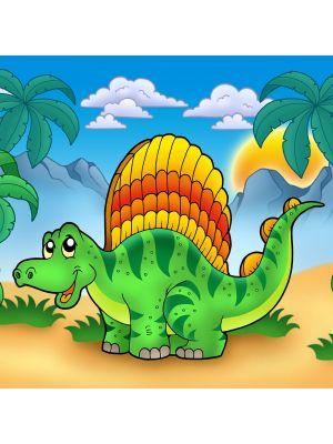 Foto behang Kinderbehang Kleine Dinosaurier