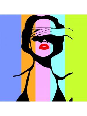 Foto behang Women in retro pop art style