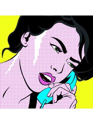 Foto behang Pop art Girl with Phone