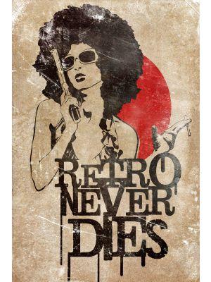 Foto behang Retro Never Dies