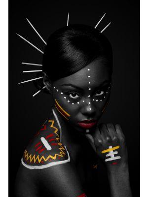 Foto behang Exotische Afrikaanse vrouw