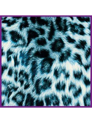 Foto print op canvas Luipaarden vel - Blauw