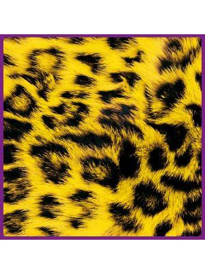 Foto print op canvas Luipaarden vel - Geel