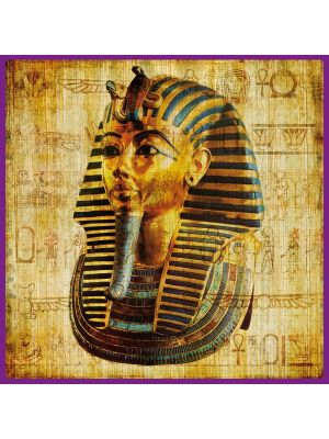 Foto print op canvas Farao op Papyrus