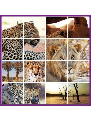 Foto print op canvas Safari Mix 2