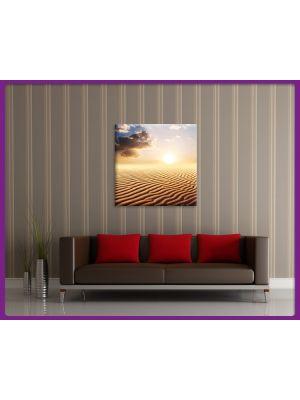 Foto print op canvas Zonsondergang in de woestijn