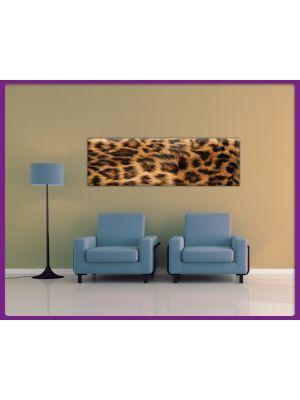 Foto print op canvas Panorama Luipaarden vel - Bruin