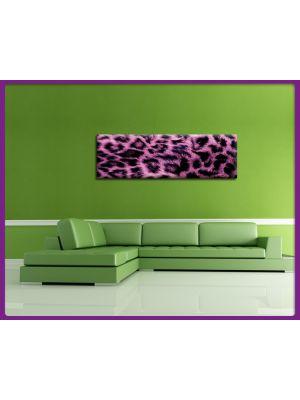 Foto print op canvas Panorama Luipaarden vel - Roze