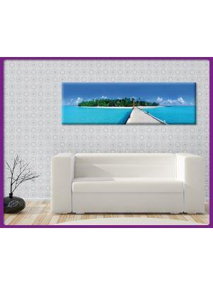 Foto print op canvas Panorama Malediven