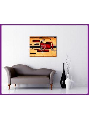 Foto print op canvas Abstracte vormen en tekens