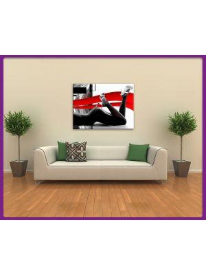 Foto print op canvas Naakte vrouw