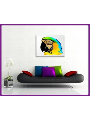 Foto print op canvas Papagaai Graphic