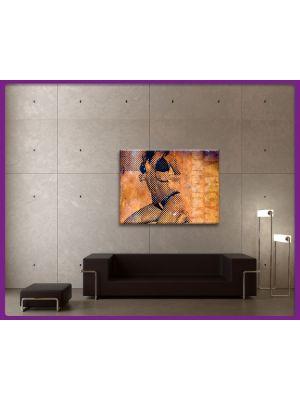 Foto print op canvas Strippende vrouw