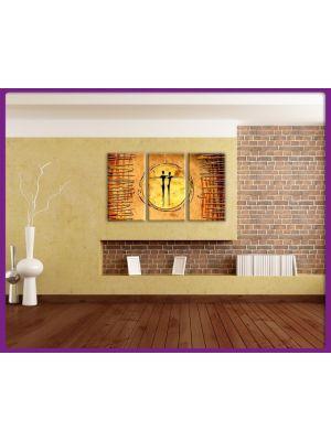 Foto print op canvas Samen in het zonlicht
