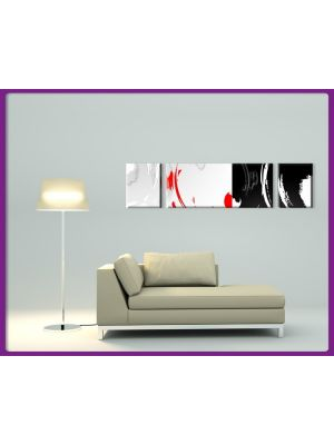 Foto print op canvas Abstracte Kunst - 3 delig