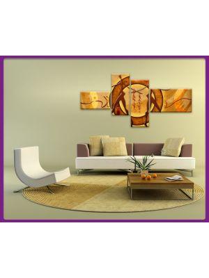 Foto print op canvas Moderne Kunst Paar - 4 delig