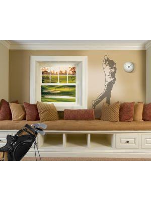 golfspeler muursticker XXL schaduwmotief
