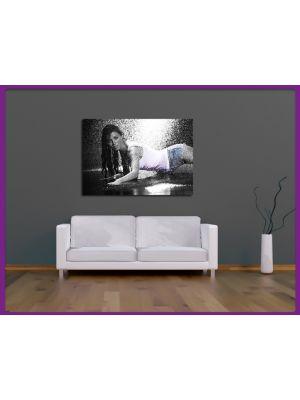 Foto print op canvas Sexy Model II Zwart wit