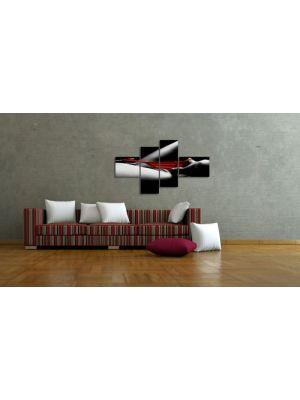 Rode Slip - 150x80cm 4 delig