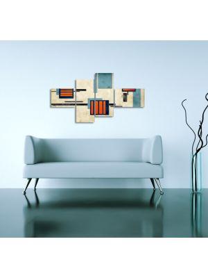 Abstracte Kunst II - 150x80cm 4 delig - ingelijst