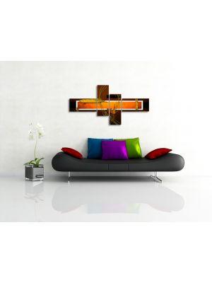 Abstracte Kunst VI - 200x90cm 4 delig - ingelijst