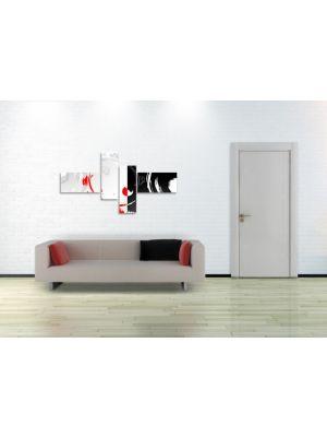 Abstracte Kunst XIII - 200x90cm 4 delig - ingelijst
